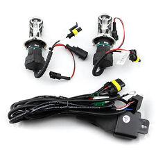 1 Pair H4 55W HI/LO Beam Bi-Xenon HID Conversion Light Bulbs with Relay harness