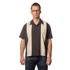 Steady Clothing vintage rockabilly retro bowling camiseta Camisa-Poplin mini panel