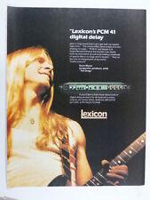retro magazine advert 1983 LEXICON delay PCM 41 / steve morse
