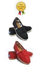 TOM'S Classics Color Negro, Rojo Mujer Shoes.brand Nuevo con Tag.all Tallas