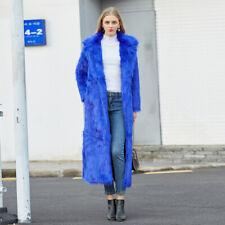 Women Long Slim Warm Jacket Ladies Faux Fur Coat Overcoat Outwear Winter
