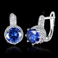 Wholesale 18K Gold Filled Big Cubic Zirconia Crystal Huggie Hoop Earrings