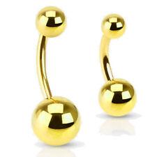 Piercing de Ombligo Amarillo Oro Dorado acero quirúrgico 316l Barra