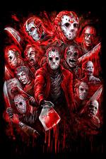 Jason Voorhees Friday the 13th - Art Poster Print - Horror movies slasher Jason