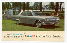 1965 Rambler Classic Sedan Dealer Promo Postcard Pc1764