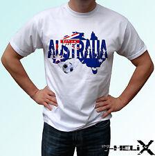 Australia football flag - white t shirt top design mens womens kids & baby