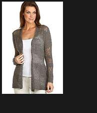 NWT Eileen Fisher Royal 100% Alpaca Stitch Cardigan  Gray P L XL Choose $278
