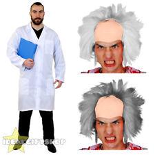 ADULTS CRAZY SCIENTIST LAB COAT DOCTOR HOSPITAL EXPERIMENT FANCY DRESS COSTUME