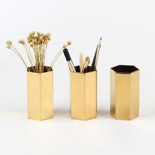 Modern Gold Tabletop Flower Vase Pen Holder Make-up Brush Storage Holder