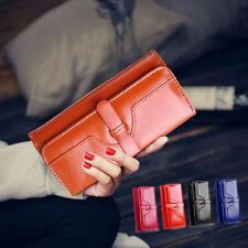 Fashion Women PU Leather Wallet Long Clutch Purse Bag Card Holder Lady Handbag