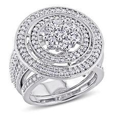 Amour 2 CT Diamond TW Bridal Set Ring in 10k White Gold