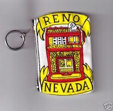 Reno Nevada Slot Machine Coin Purse with Key Ring-New