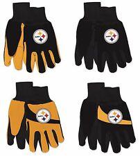 Nwt Nfl Pittsburgh Steelers No Slip Gripper Palm Utility Work Gardening Gloves