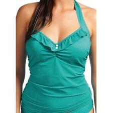 Freya Swimwear Cherish 50s Halter Tankini Top Jade 3363