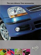 NISSAN quasi esaurito TINO ACCESSORI 2000-2003 Regno Unito delle vendite sul mercato opuscolo