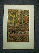 1872 Antique Print RENAISSANCE showing Venetian Bindings & Inlays