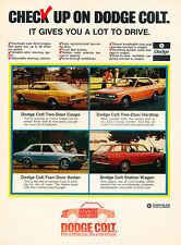 1972 Dodge Colt - 4models-  Classic Vintage Advertisement Ad H86