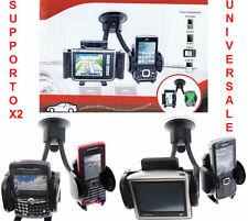 Doppio supporto da auto per GPS,Navigatore satellitare,mp3,cellulare,iphone,mp4.