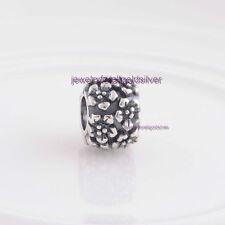 Sterling Silver 925 European Charm Pattern of Flowers Bead