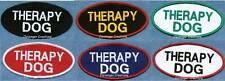 THERAPY DOG oval service dog vest patch   ------ service dog vest patch ------