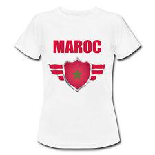 T-shirt Enfant Maroc avec prénom au dos personnalisé - Mondial Football 2018