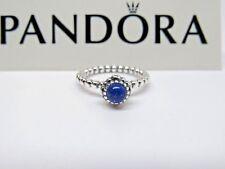 New w/Box Pandora Lapis Blue Birthday Bloom Ring 190854LP Sizes September Stack