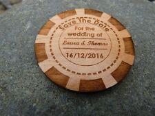 Las Vegas Poker Chip Save The Date fridge magnets: Wedding, Party Invitation