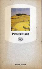 """Cesare Pavese. """"PAVESE GIOVANE"""" Einaudi 1990"""