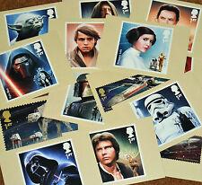 Star Wars Royal Mail StampCard Postcards new