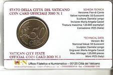 VATICANO - NOVITA' - COIN CARD 2010