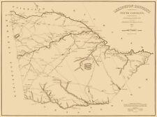 Old County Map - Lexington South Carolina Landowner - Mills 1825 - 30.75 x 23