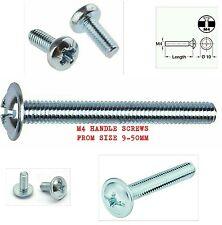 M4 (4mm) DOOR HANDLE SCREWS / BOLTS 18 LENGTHS CUPBOARD DOOR DRAWER KNOB CHOOSE