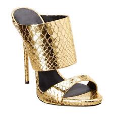 Fashion Womens Glitter Snake Pattern High Heels Nightclub Party Peep Toe Shoes