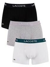 Lacoste Men's 3 Pack Casual Trunks, Multicoloured