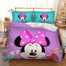 Duvet/Quilt Cover Minnie Mouse Pillow Case Full Queen Cartoon Bedding Set
