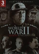 World War II: Heroes  Villains (DVD, 2011, 3-Disc Set) Free Shipping SEALED