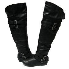 Women's Riding Designer Boots Black shoes winter snow Ladies size 7