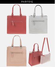 Brand New PARFOIS Lady Women Silver Copper Red 2 pcs Tote Shopper Shoulder Bag