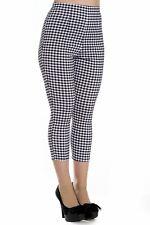 Hell Bunny Judy Capri Checkered Retro Style Trousers