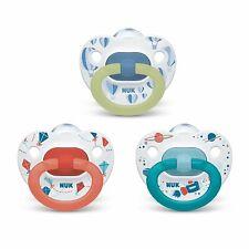 NUK Orthodontic Pacifier  Boys  [Value Pack , 3-Pack]