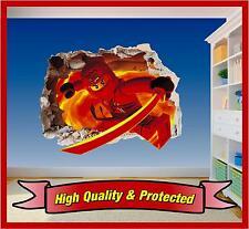 Lego Ninjago Kai Hole in Wall - Printed Vinyl Sticker Decal Childrens Bedroom