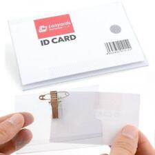 Clip in plastica trasparente nome ID badge con clip Coccodrillo e la sicurezza PIN 9 x 6 cm