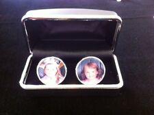 Personalise custom Cuff Links, Photo Charm. Memorial