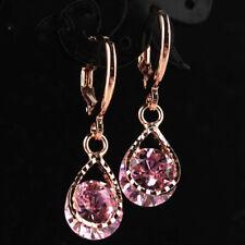 Wholesale New Jewelry Rose Gold Color Rhinestone Water Drop Crystal Dangle Earri
