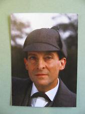 Sherlock Holmes Postcard Detective Jeremy Brett Deerstalker Hat Dr Watson Actor