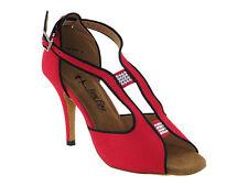 Latin Salsa Very Fine Ballroom Competitive Dance Shoe 2825LEDSS Red Velvet