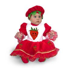 FRAGOLINA costume vestito CARNEVALE bambina neonata tg. 10/12 mesi PEGASUS srl