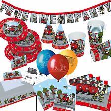 * FEUERWEHR * Alles zum Kindergeburtstag - Mottoparty Party Geburtstag Deko -TIB
