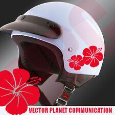 adesivi tuning  stickers art  fiori flower hibiscus stickers auto moto casco
