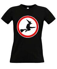 Ningún camino para brujas Fun mujeres t-shirt Fun Shirt divertido hallooween disfraz